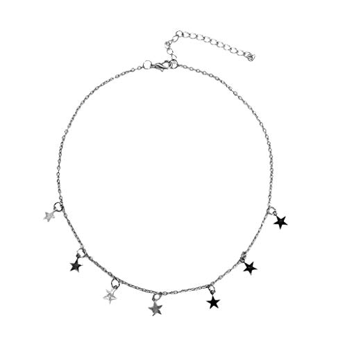 Boho Stars Pendant Necklace for Women and Girls Choker Necklace Jewelry