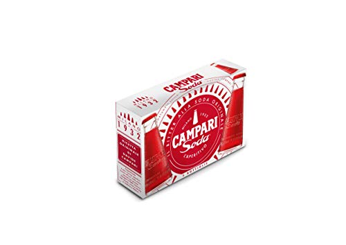 Campari Soda, Aperitif – Der beliebte italienische Aperitif Klassiker fix und fertig gemixt – Perfekter Drink für spontane Anlässe, After Work und als Party Präsent – 5 x 0,098 l