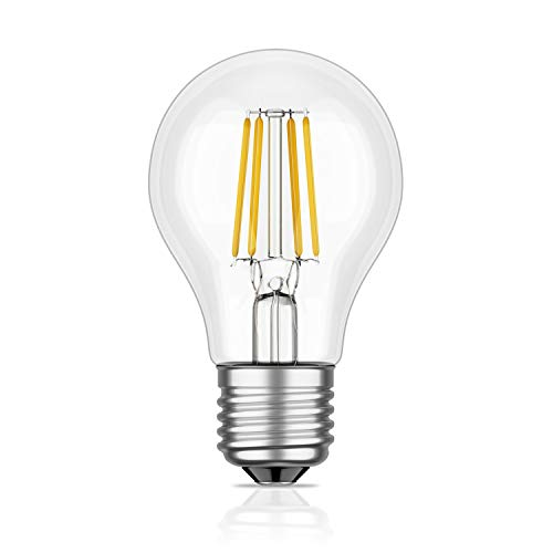 E27 LED-lamp filament A60 7W = 63W warmwit 800lm A++ voor binnen en buiten