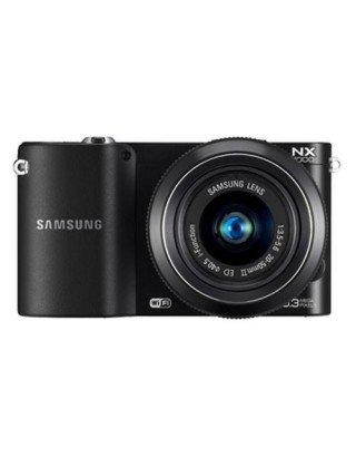 Samsung NX1000 Compact System Camera, 20.3 Megapixel CMOS, Display da 3 Pollici, Wi-Fi, Nero