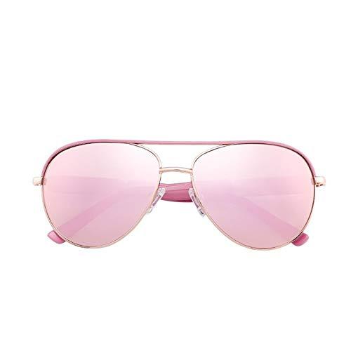 FENCHI Metallsonnenbrille mit Metallgravur, Einkaufen und Fahren, Freizeit und Unterhaltung, UN400-Schutz?15014 (Linse:Rosa/Rahmen:Golden/Tempel:Rosa)