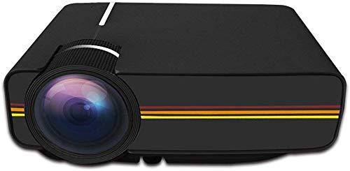 ZGYQGOO 1200 lúmenes LED Mini proyector de vídeo, Soporte 1080P portátil Pico Proyector Ideal para Cine en casa, Juegos de Entretenimiento, Fiestas, Color Negro