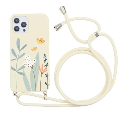 Yoedge Funda con Cuerda para Apple iPhone 7 Plus/8 Plus-5,5', Funda de Silicona AntiChoque Suave TPU para Teléfono Móvil con Colgante Ajustable Collar Correa para el Cuello Cadena Cuerda, Florero