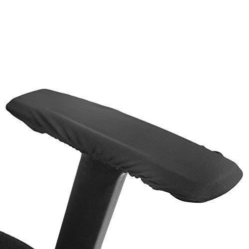 1 Paar Abnehmbare Armlehne Abdeckungen für Bürostuhl Elastische Universal-Kissen für Armlehnenschutz, Waschbar Stuhl Armlehne Pad Covers(Schwarz)