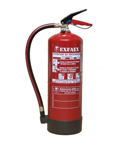 Extintor de polvo 6 Kg. Eficacia 27A 183B-C.