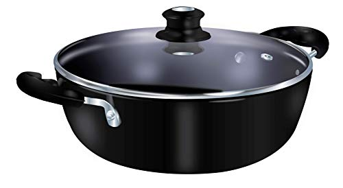 Lifelong Hard Anodized Kadai 3 litre, Induction and Gas...
