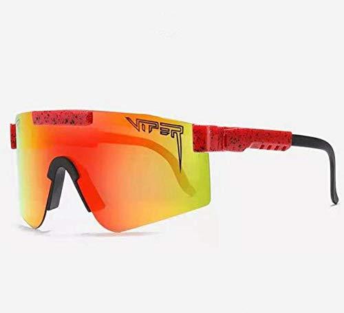 Pit Viper Polarized UV400 Outdoor Sports Gafas Gafas de Ciclismo Fashion Bike Bike Bicycle Sunglasses MTB Gafas con Estuche-Un 9