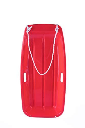 户外NATION下坡短跑雪橇雪橇耐用2个把手拉绳(RED)