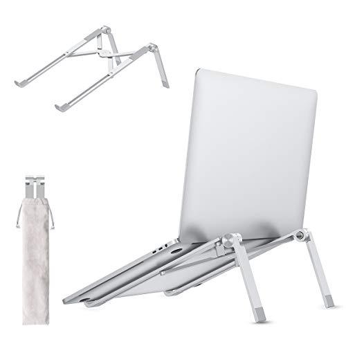 allcaca Laptop Ständer, Notebook Ständer Kompatibel für MacBook Pro Air Surface Samsung HP, Einstellbare Höhe und Winkel, Silber