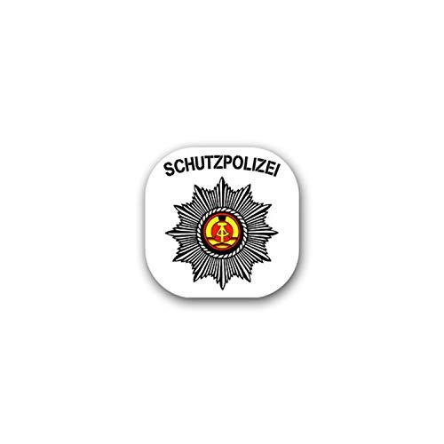 Sticker Autocollant – Protection de Police DDR publique Police Police Garde étoile République démocratique allemande armoiries insigne emblème 7 x 7 cm # A1841