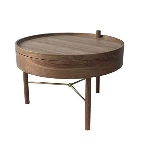 BaiHogi Mesa de cama, Tische Beistelltisch, rotierender Couchtisch, Tablett Typ, Massivholz-Falttisch, Sofa-Table, Geeignet für Hotelvillen Couchtisch Farbe: schwarz, Größe: 25.5925.5914.96in