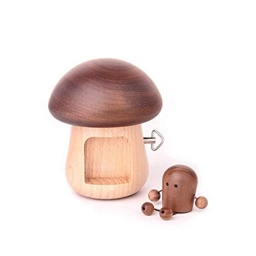 WECDS-E Caja de música portátil Caja de música pequeña Adorno decoración del hogar Caja Musical con Mecanismo de Madera Tallada para Navidad/cumpleaños Caja Musical giratoria