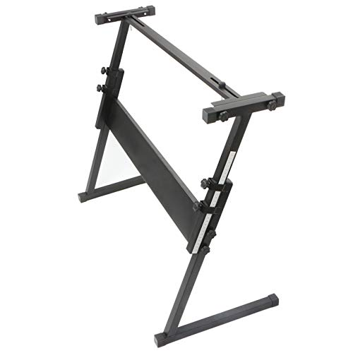 Z-Shape Adjustable Electric Piano Rack Stand - Light Weight, Portable Professional Digital Piano Stand - Quality Musical Instrument Accessories