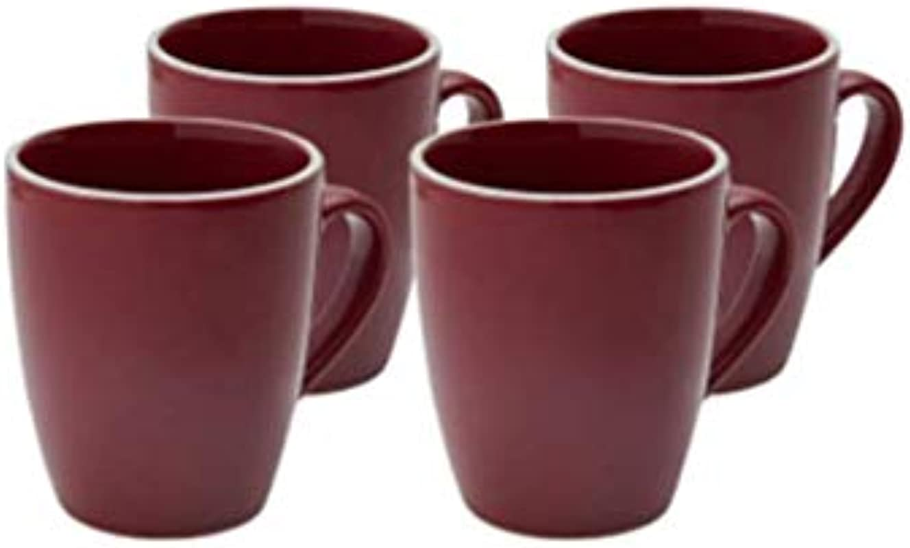 Halo By Darbie Angell Harmony Classic Mug Set Of 4 12 Ounce Red