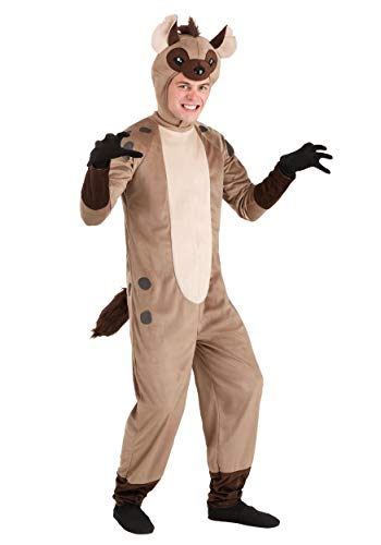 Disfraz de hiena para adulto - Marrn - Large