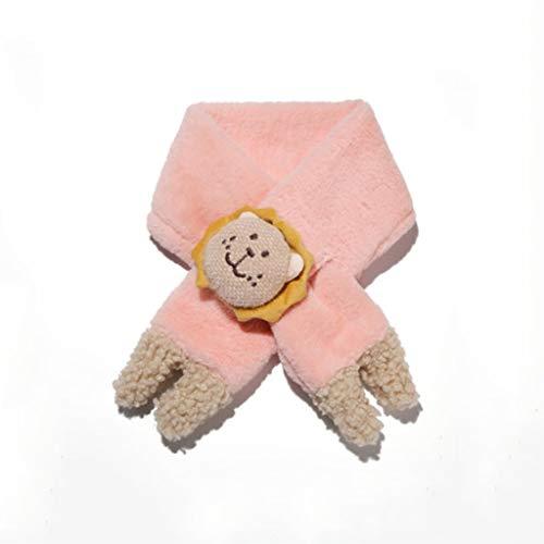 Bufanda para niños Niños de Invierno Bufanda Moda de Moda con Cuello de Felpa Cuello de Dibujos Animados Cuello Wrap Wrap whal Apto for niños Bufanda Caliente (Color : Pink)