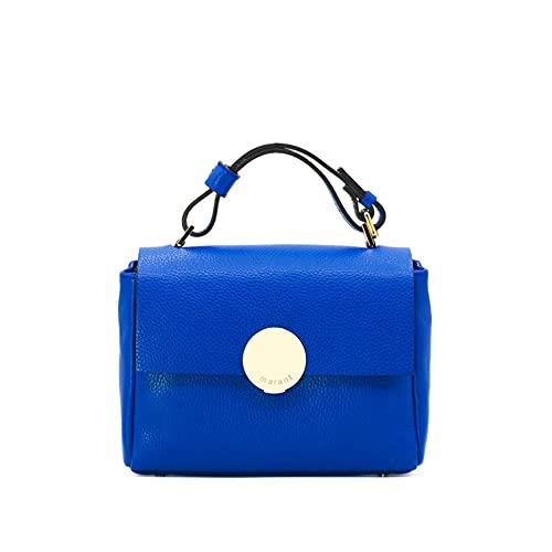 MARANT - Eveline pequeño bolso de mano de piel con correa Bluette...