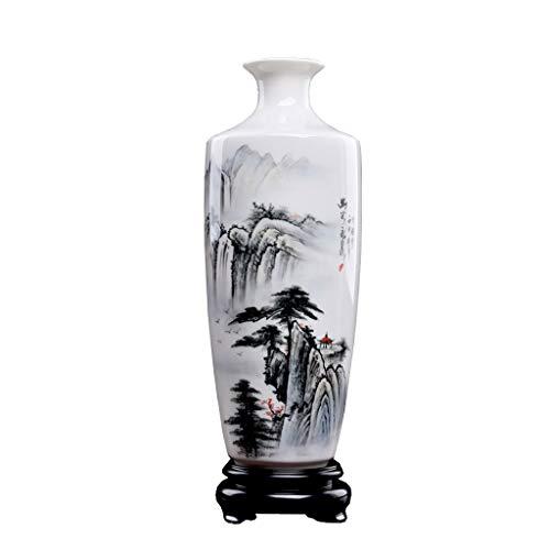 jinyi2016SHOP Maceta Jarrón de cerámica China Classic Classic Home Sala de Estar Gabinete de TV BOU STELF CONTADTOP Decoración de jarrón a Mano con Agujero De Drenaje Macetas (Size : Medium)