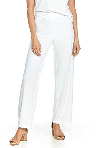 Coolibar LSF 50+ Damen Verona Straight Leg Hose – Sonnenschutz - Weiß - Groß