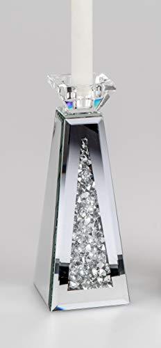 formano Kerzenhalter Mirror Stones H. 23cm mit Spiegelglas