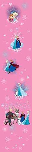 Disney Frozen - Tenda per Finestre In Voile Trasparente Rosa - (1 pannello - 140x290 cm)