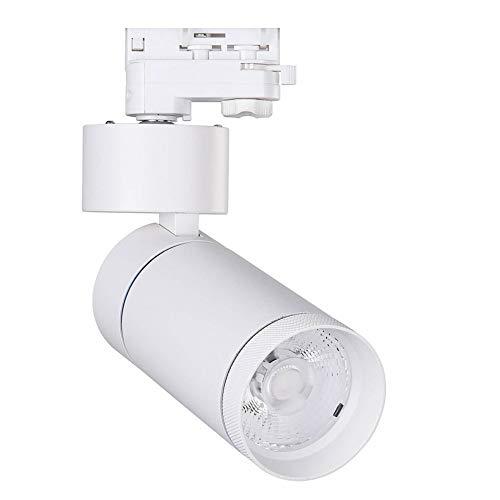 Faretto LED 30W LIMON Bianco per Binario Trifase Sistemi di illuminazione a cavo e su binario (K4000)
