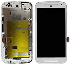 Rpatel Motorola Moto G2 / 2nd Gen/XT 1068 LCD Display with Touch Screen Digitizer Glass with Frame Combo (White)