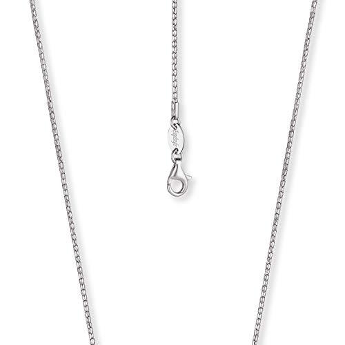 Engelsrufer - stabile Damen Halskette, Koreanerkette ohne Anhänger aus 925 Sterling Silber, einfache Frauen Schmuck Silberkette, silberne Damenkette mit Karabinerverschluss