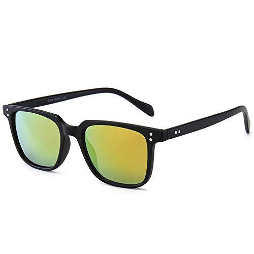 Gafas de sol Gafas de sol Tendencia Marco cuadrado Gafas de sol Gafas de sol Señoras Damas-Arena caja negra naranja