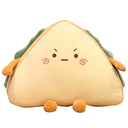 NLRHH Hakka Comida Peluche Juguetes sándwich Forma Fruta Lindo Relleno Suave Almohada Peluche Juguetes 3D Novedad Lanzamiento Almohadas Housewarming Party Favor 30 cm Peng (Size : 30X25X10CM)