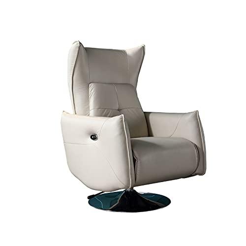 FUCHEN Sillón Relax,con reposapiernas Ajustable y reclinable,se Puede Levantar y Girar,para el hogar/Sala de Estar/Teatro.80 * 80 * 105 cm
