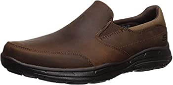 Skechers Men s Glides Calculous Slip-On Loafer,Dark Brown,10 M US