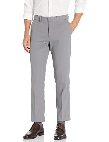 powerful Dockers Men's Suit Pants Flat Front Stretch Fabric, Steel, 34Wx32L