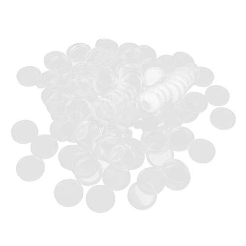 chiwanji 100 Capsule di Monete in Plastica per La Conservazione della Custodia per Esposizione Protezione per La Raccolta dei Materiali di Consumo