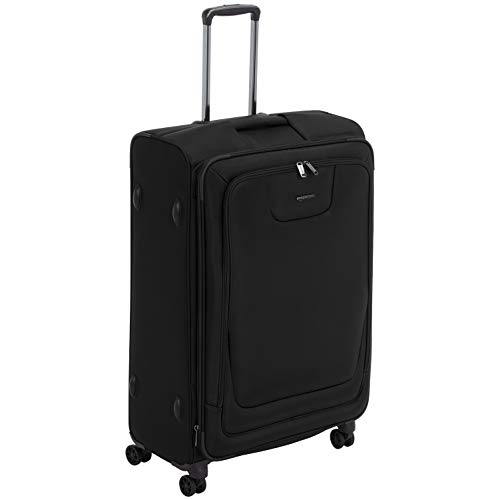 AmazonBasics Expandable Softside Spinner Luggage Suitcase With TSA Lock And Wheels - 32 Inch, Black