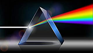 40x40x40x40mm K9 Optical Glass Equilateral Triple Triangular Prism For Optics Experiment Instrument Spectrometer Research