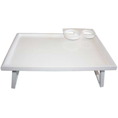 CareLiv Bett-Tisch Kunststoff - Betttisch Laptoptisch Pflegebett