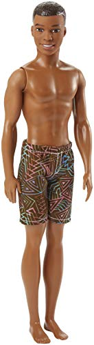 Barbie DWK07 Beach Ken pop met bruine shorts