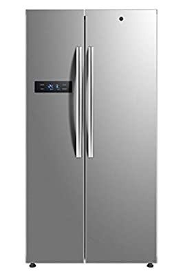 Hoover HSBSF178MIK Freestanding American Fridge Freezer Frost Free, 510 Litre, Stainless Steel