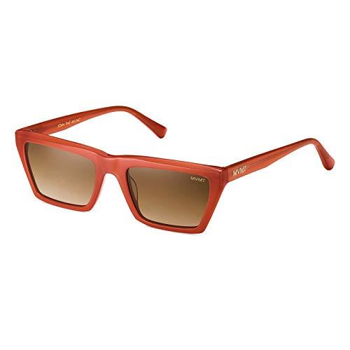 MVMT Savage   Non-Polarized Geometric Women's & Men's Sunglasses   Milky Brick