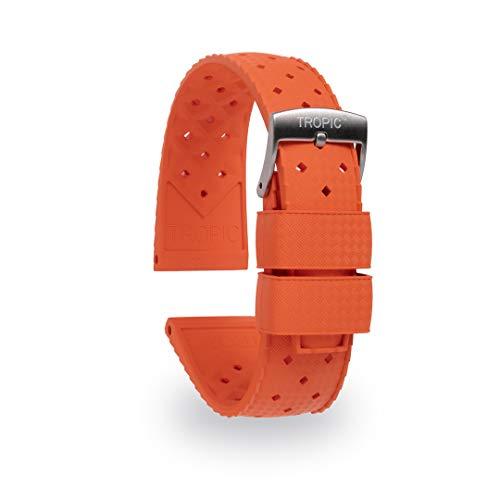 Tropic Correa de reloj de goma, (correa de reloj de buceo) (20 mm, naranja)