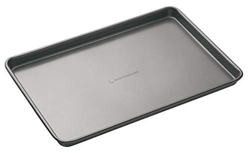 MasterClass KCMCGB3 Vassoio da Forno Antiaderente Formato Grande, Carbonio, Grigio, 39 x 27 cm