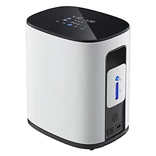 WUKALA Concentrador de Oxígeno,Oxigeno Portatil Concentrador de 1-7 l/min,Máquina de Oxígeno Inteligente de Alta pureza al 93% para el Hogar y los Viajes,no Médico