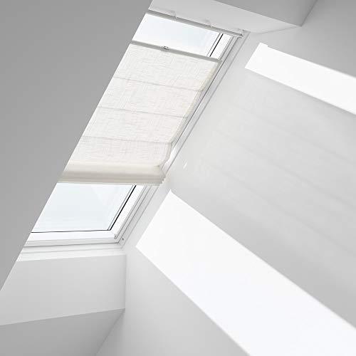 Orignal VELUX Raffrollo FHB UK08 6502 / Bedienart : Manuell / Farbe : Dekor Hellbeige / Fenstergröße : UK08 / Fenstertypen : GGU, GGL, GPU, GPL, GTU, GTL, GXU, GXL _13860