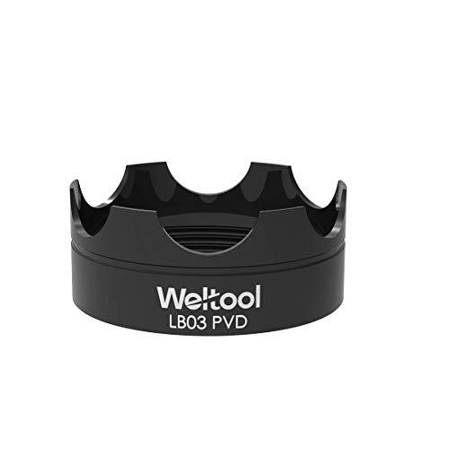 Weltool Flashlight Strike Bezel Black LB03 PVD for Maglite C or D Cell Flashlights LED ML300L & ML300 LX Upgrade Glass Breaker