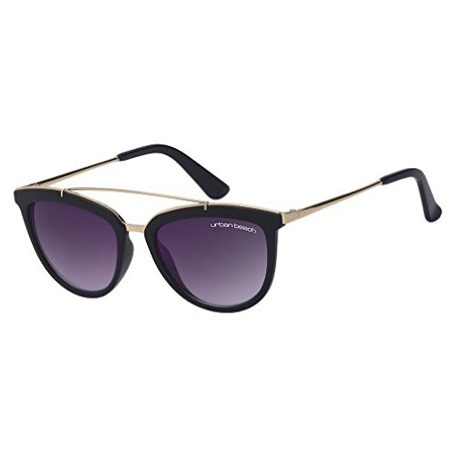 Urban Beach Miku, Gafas de Sol Mujer, Negro, 52