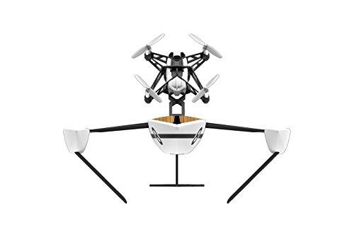 Parrot Hydrofoil New Z - Dron 'dos en uno' para pilotar por aire y agua, cuadricóptero y barco (cámara vertical 30 FPS, 18 Km/h, 9 minutos de vuelo, 20 metros de alcance, programable), color blanco