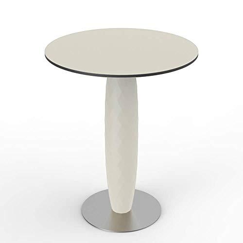 Vondom Vases table avec base inox et surface ronde HPL diam.70 cm blanc