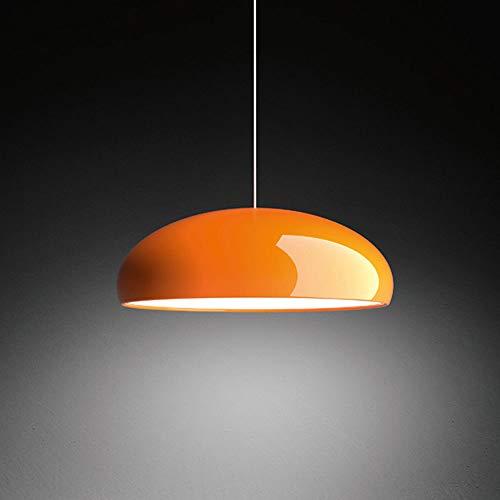 E27 Designer Pendelleuchte Nordischer Stil Hängelampe Orange Höhenverstellbar Dekor Esszimmer Lampe Aluminium Lampenschirm für Wohnzimmer Cafés Esstisch-Leuchte Büro Lounge Tagungsraum φ45CM