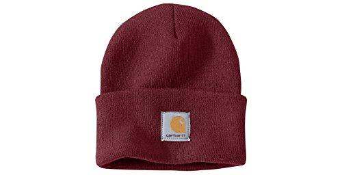 Carhartt Wintermütze für Sie und Ihn, OFA, 100% Polyacryl,elastisch, Weinrot, Einheitsgröße
